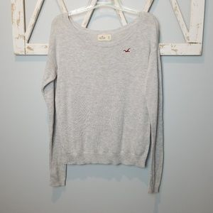 Hollister oversized sweater wide neck xs